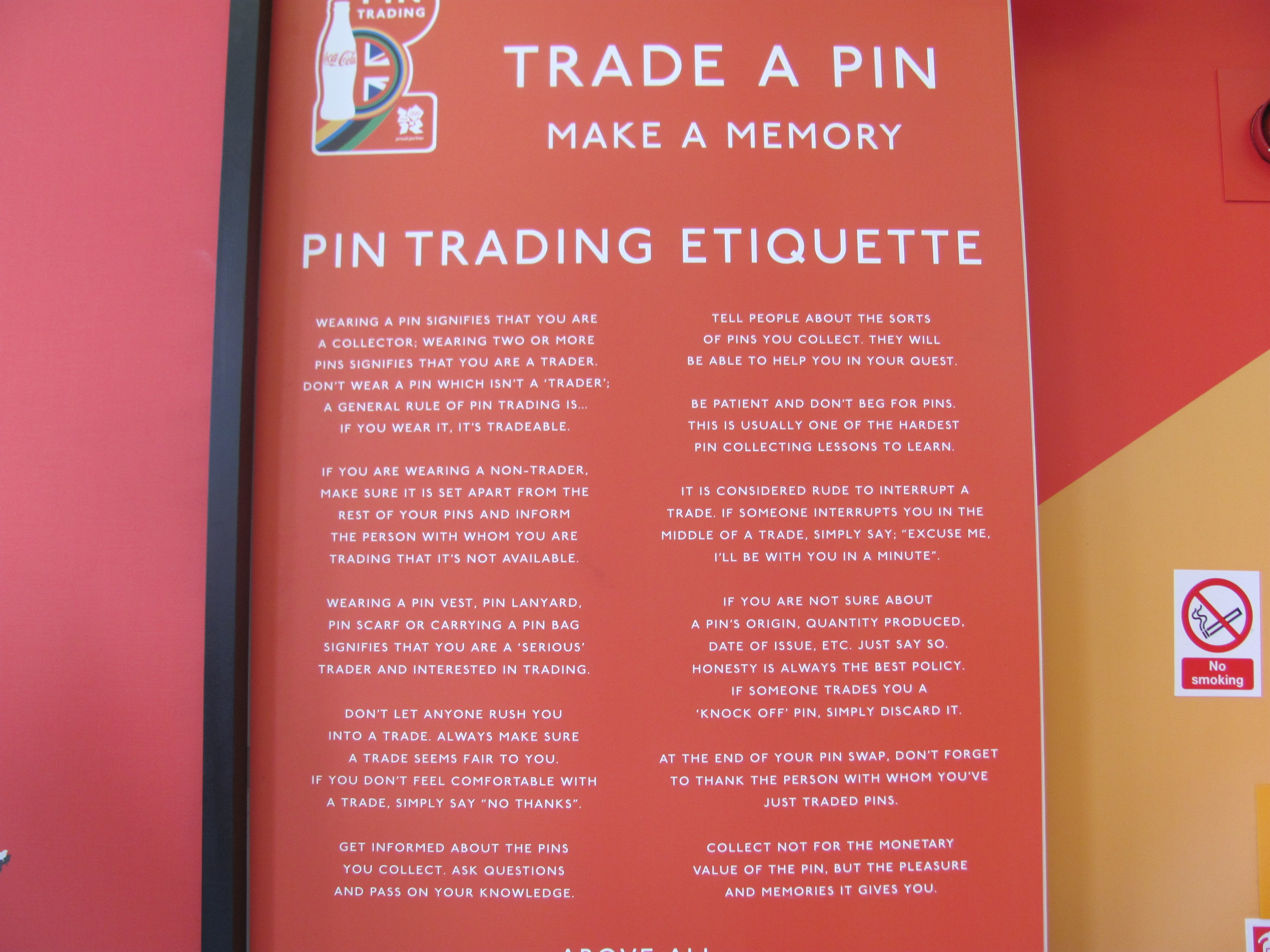 Pin collecting and trading is serious business!   Sydney McCoy